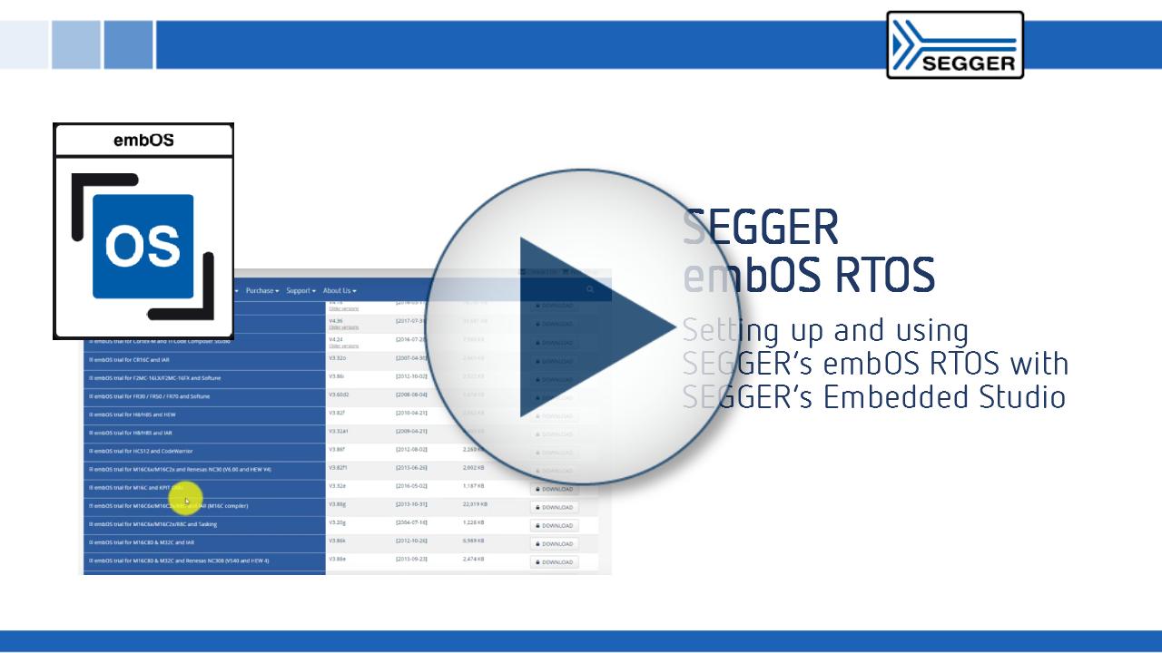 SEGGER embOS RTOS Setup